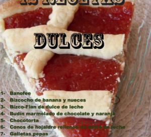 recetario 12 recetas dulces