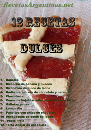 recetario 12 recetas dulces