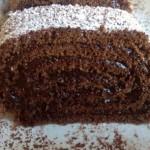 Arrollado de  chocolate (masa básica)