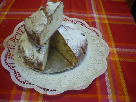 torta con manzanas