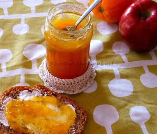 Mermelada de manzana y naranja