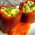 Pimientos Morrones rellenos de verduras