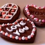 Galletas de chocolate para San Valentín