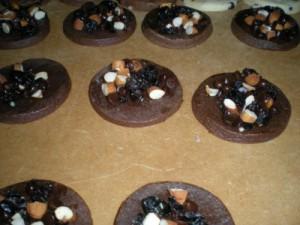 galletas chocolate y frutos secos