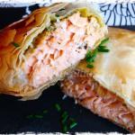 Paquetitos de salmón en masa filo