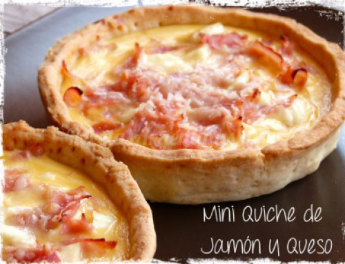 Mini Quiches de Jamón y Queso