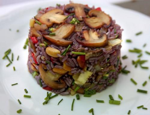 Arroz al Malbec con Hongos y Vegetales