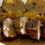 Solomillo de Cerdo en Salsa de Cítricos a la Pimienta Verde