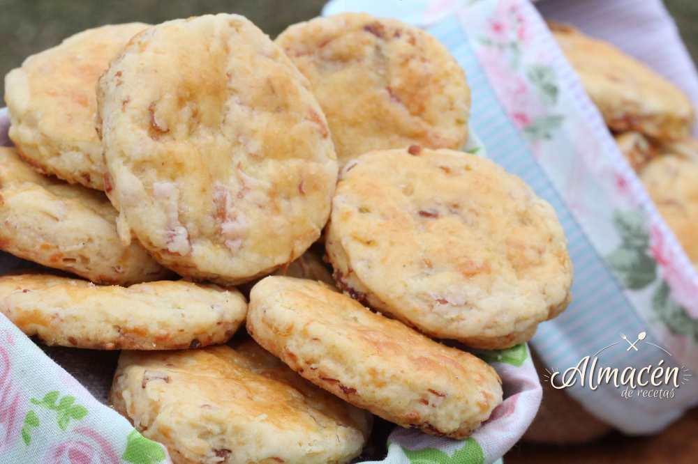 Scons Salados de Jamón – Queso – Panceta y Cebolla