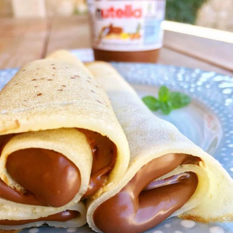 Panqueques Rellenos de Nutella