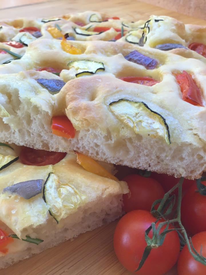 Focaccia con verduras
