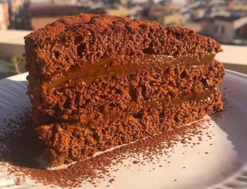 Torta de Chocolate rellena de dulce de leche